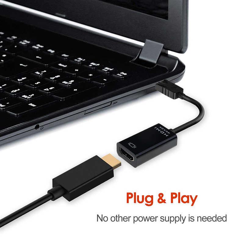 Adaptador de Cable Mini DP a HDMI 4 K Mini DisplayPort para Thunderbolt Port a HDMI adaptador para Apple Mac Macbook pro aire portátil