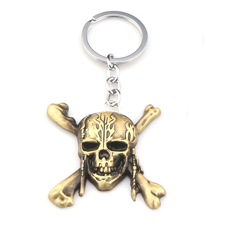 Movie Pirates of the Caribbean 5 Metal Keychain skull key jewelry accessories