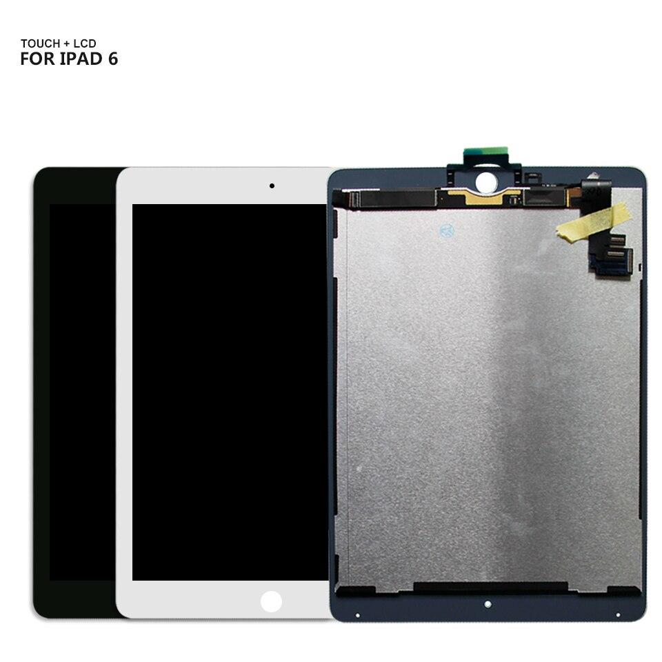 Pour ipad 6 LCD écran tactile panneau en verre assemblage pour ipad Air 2 A1566 A1567 écran LCD