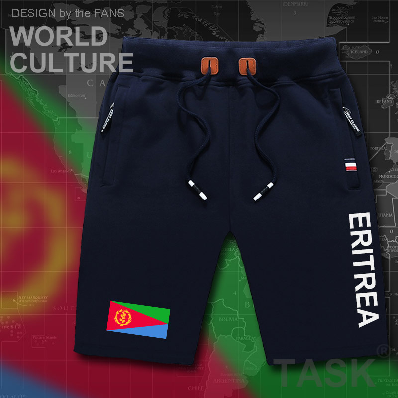 Eritrea Eritrean Mens Shorts Beach Man Men's Board Shorts Flag Workout Zipper Pocket Sweat Bodybuilding 2017 Cotton Brand ERI ER
