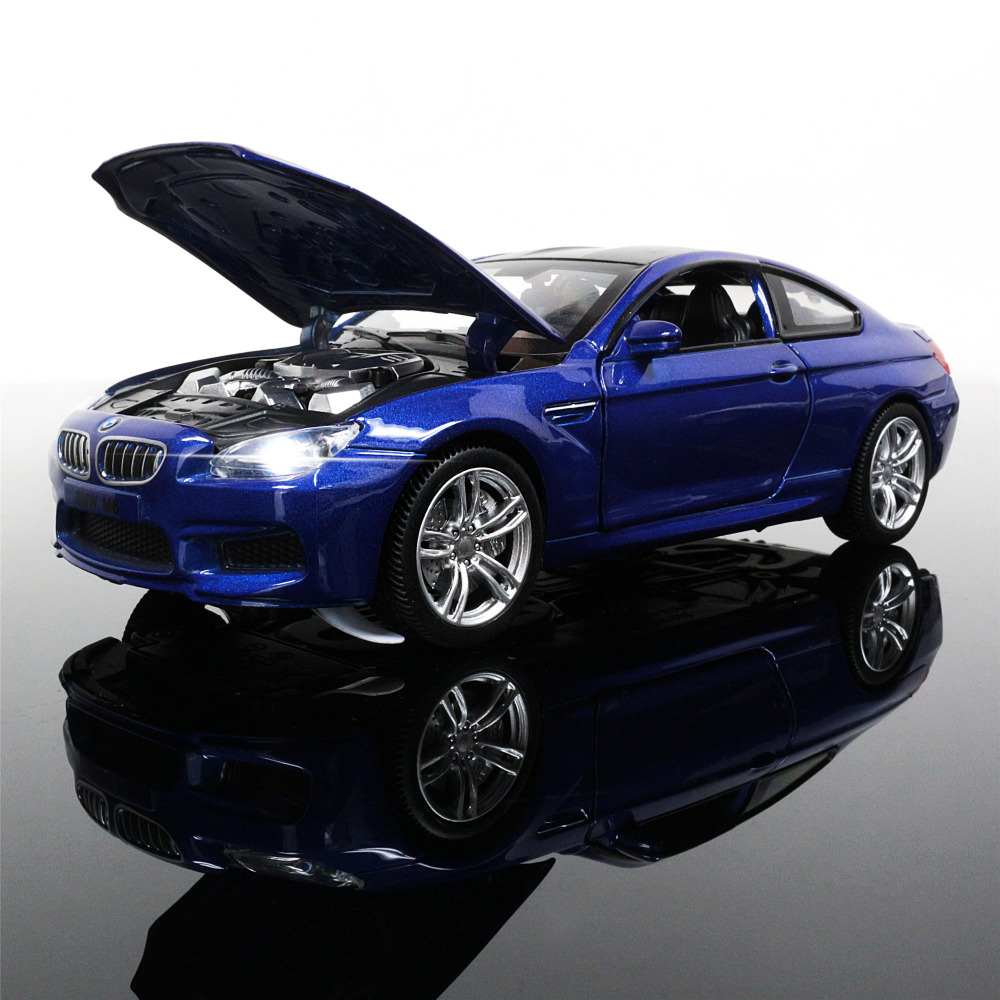 1:32 Scale Diecast Alloy Metal Luxury Racing Car Model For The M6 DTM Collection Model Pull Back Toys Car With Sound&Light