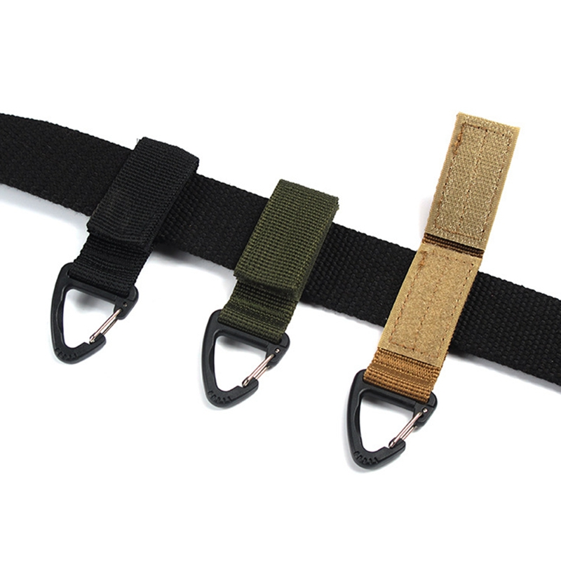Climb Accessory Carabiner High Strength Nylon Tactical Backpack Key Hook Webbing Buckle Hanging System Belt Buckle Hanging