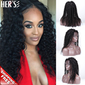 HERS Glueless Lace Front Human Hair Wigs Full Lace Human Hair Wigs,Natural Brazilian Virgin Hair Wig Human Hair Lace Front Wig