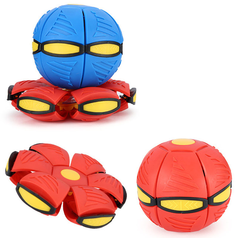 Flying UFO Flat Throw Disc Ball With LED Light and music Magic Flying Ball
