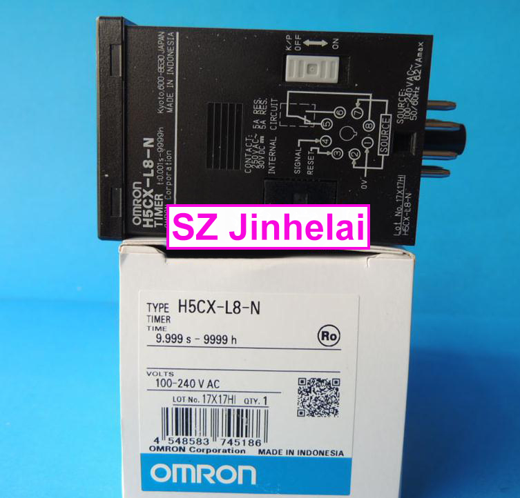 H5CX-L8-N New and original OMRON TIME RELAY 100-240VAC 100%new and original h7et n omron time relay time counter