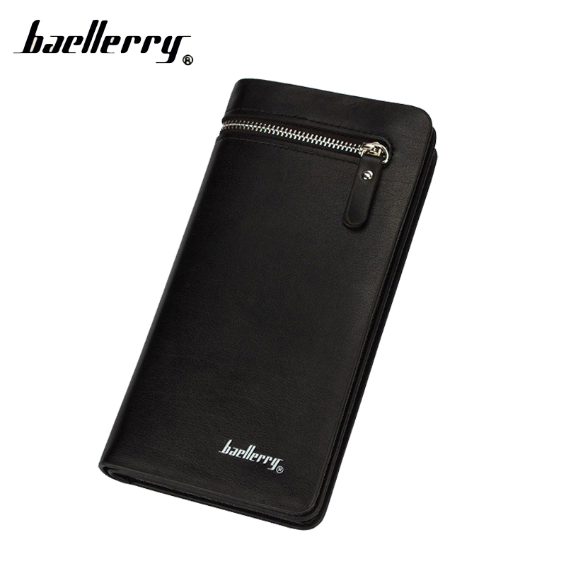 Baellerry Luxury Phone Long Fashion Handy Men Wallet Male Purse Clutch Zipper Perse Walet Cuzdan Vallet Money Bag Card Holder