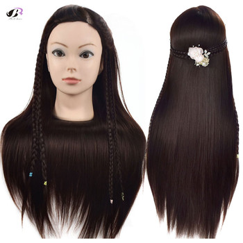 Bolihair 26 inch Training Head Mannequin Brown Hair For Hairdressing Dummy Heads for Sale