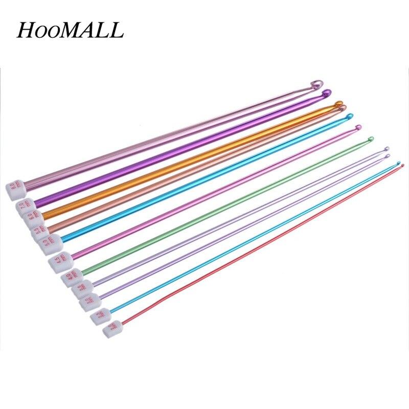 ①Hoomall 1 Unidades 11 unids multicolor aluminio crochet Ganchos ...