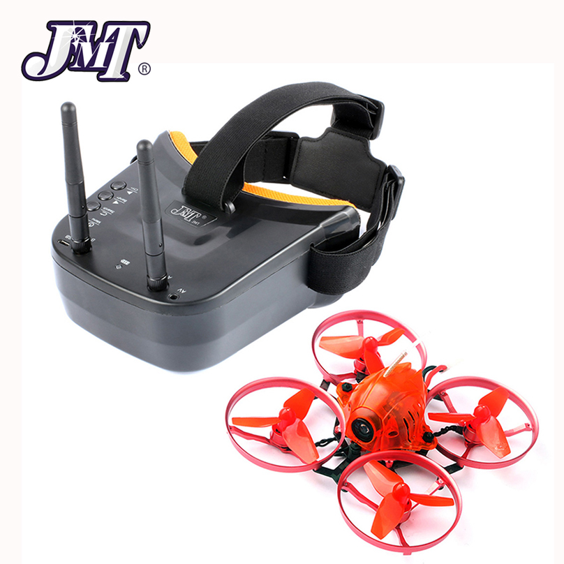 JMT Snapper7 Brushless Whoop Racer Drone BNF Tiny 75mm FPV 700TVL HD Camera VTX & Double Antenna 5.8G Video Goggles for Frsky RX радиоуправляемый квадрокоптер betafpv beta65s whoop quad frsky rx bnf