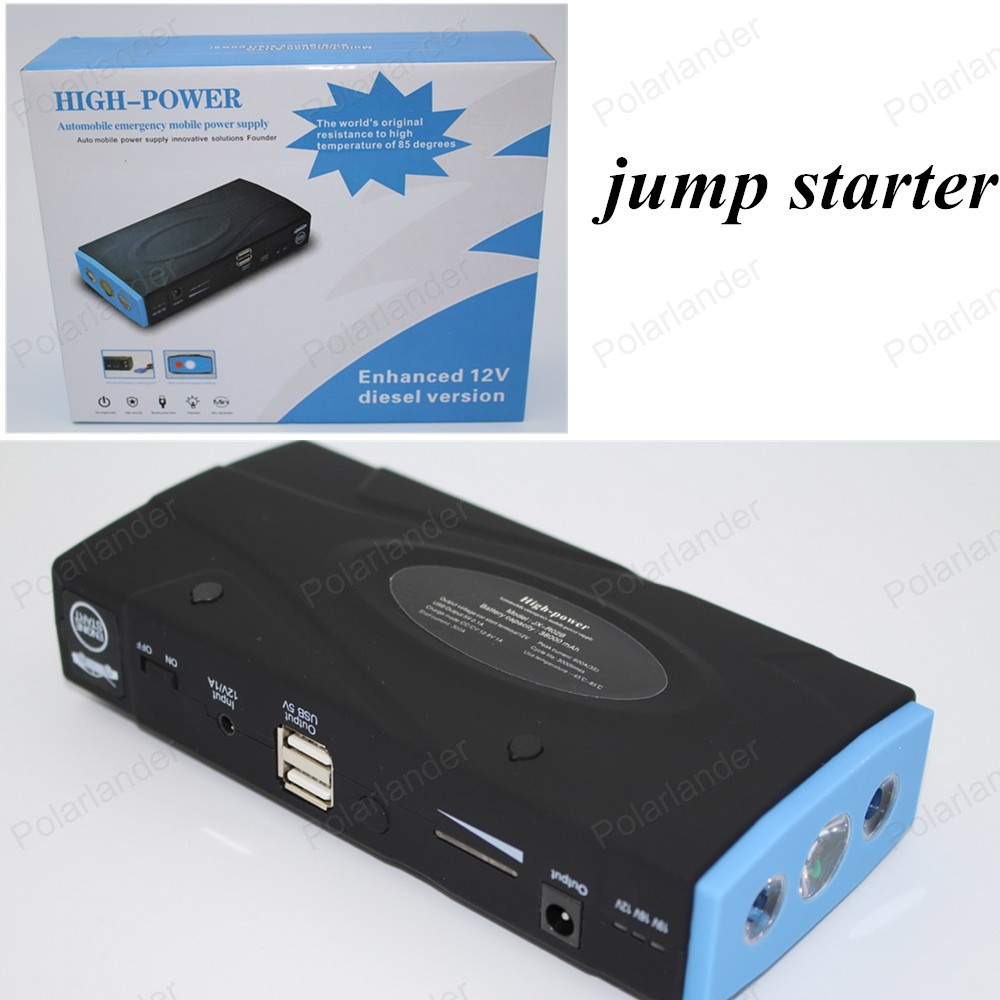 ФОТО big sale  50800mAh2USB Car Jump Starter Mini Portable Emergency Battery Charger for Petrol & Diesel Car Free shipping
