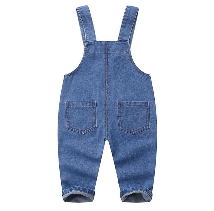 1 2 3 4 Jahre Kleinkind Denim Overall Tasche Casual Unisex Baby Overalls Hosenträger Mädchen Jungen Infant Jeans Overall Kinder Kleidung 100% Original