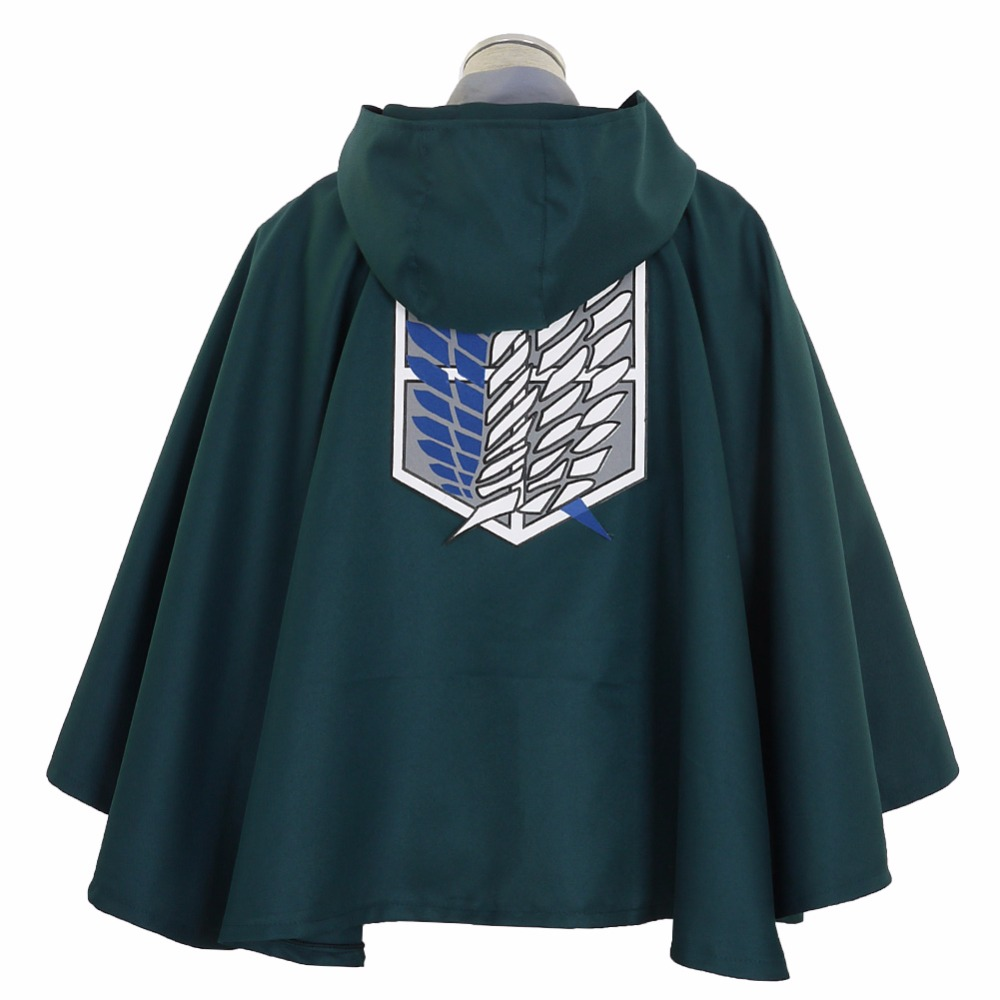 Halloween Attack on Titan Survey Corps Blue TV Cape Robes Cloak Shingeki no Kyojin Eren Jaeger Cosplay Costume Anime Japanese