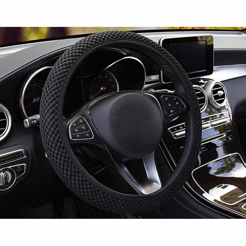 6 Colors Car Steering Wheel Cover Breathability Skidproof Auto Covers Decor Fabric Durable Car Styling