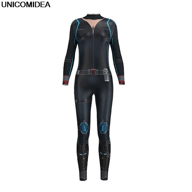 O Skinny Macacões Mulheres Rompers Black Widow Avengers Homem De Ferro Capitão América Spiderman Cosplay Bodysuit One Piece Mulheres Sets