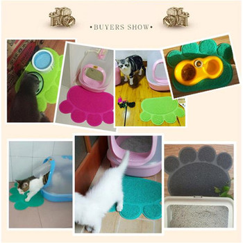Paw Print Cat Litter Mat Box Toilet Pad Puppy Kitty Dish Dinner Feeding Bowl Dog Sleeping Placemat Tray Tidy Easy Cleaning 1