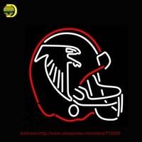 Capacete 1966 1969 Logo NFL Atlanta Falcons Sinal de Néon Neon Lâmpada Tubo De Vidro Artesanal Da Arte Luzes de Néon Affiche Publicidad 24x20