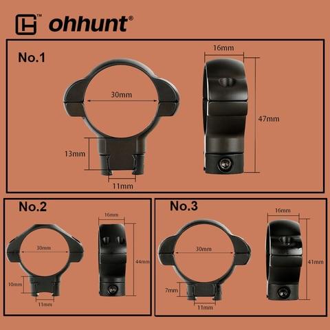 ohhunt tatico 30mm tubo aneis de aco 3 8 11mm montagem em trilho de andorinha