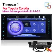 Lecteur multimédia de voiture 2 Din 7 «lecteur universel Bluetooth MP5 pour Toyota Corolla support de lecteur multimédia de voiture lien miroir Andorid 8