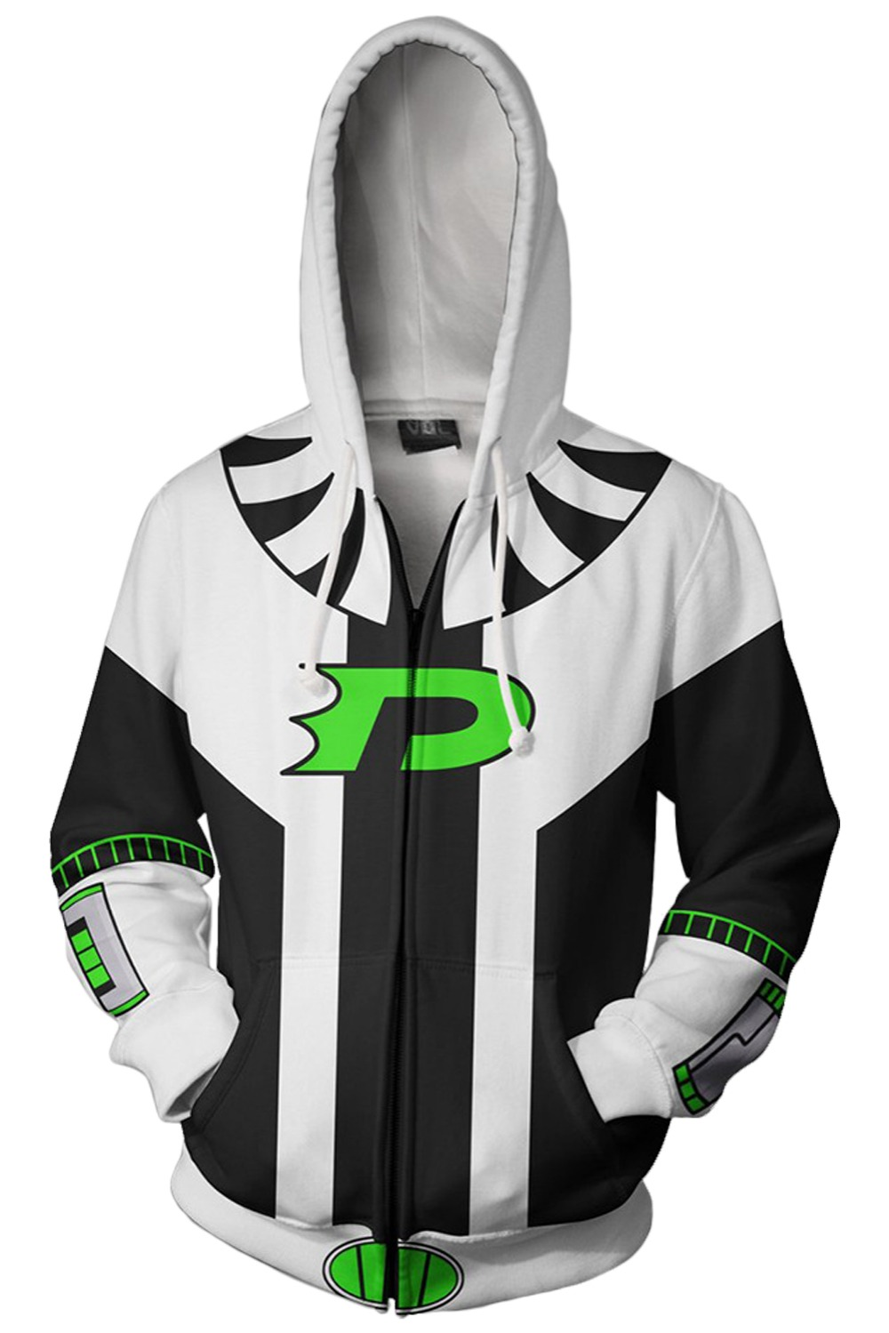 762f07e4311 Anime Danny Phantom Cosplay Costumes Sweatshirts Autumn Men And Women Anime  3D Printing Zipper Jacket Hooded Sweater