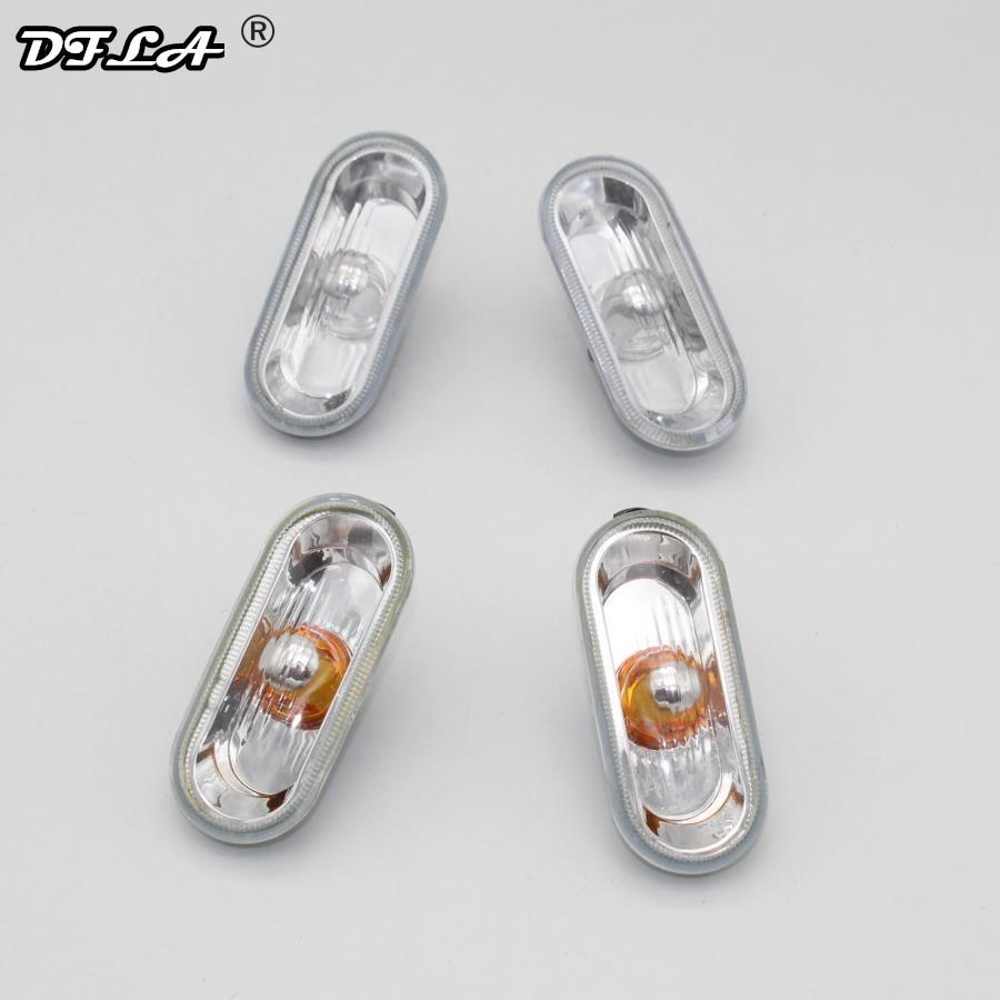 DFLA 2pcs Car Light For SEAT Leon 2000 2001 2002 2003 2004 2005 2006 Car-Styling Side Marker Turn Signal Light Lamp Repeater 2pcs for vw sharan 2001 2002 2003 2004 2005 car styling side marker turn signal light lamp repeater