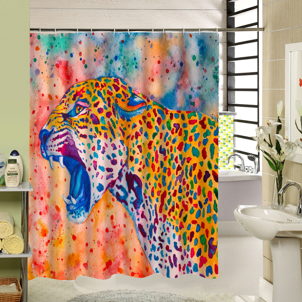 Colorful dot shower curtain fabric polyester 3d printing abstract getsubject aeproduct gamestrikefo Image collections