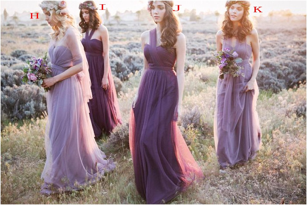 Custom Color Size New Variety To Wear Convertible Dress Long Bridesmaid Dresses Multicolor Wedding Prom Party Women In From