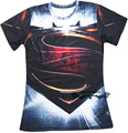 Harajuku Classic Anime Hero Superman and Batman 3d t shirt Women Men Summer Fashion Short Sleeve t shirts Casual Tee Shirts