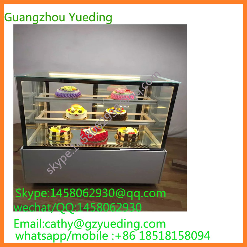 Bakery display cake refrigerated cabinet with angle shape chiller cake display cabinet, glass cake display cabinet for Sale 26 nanjing province specialty wheat cake gold flower cake sesame cake fuling horseshoe crisp cake optional