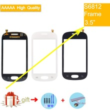 For Samsung Galaxy Fame S6812 GT-S6812 Touch Screen Panel Sensor Digitizer Front Glass Outer Lens Touchscreen No LCD все цены