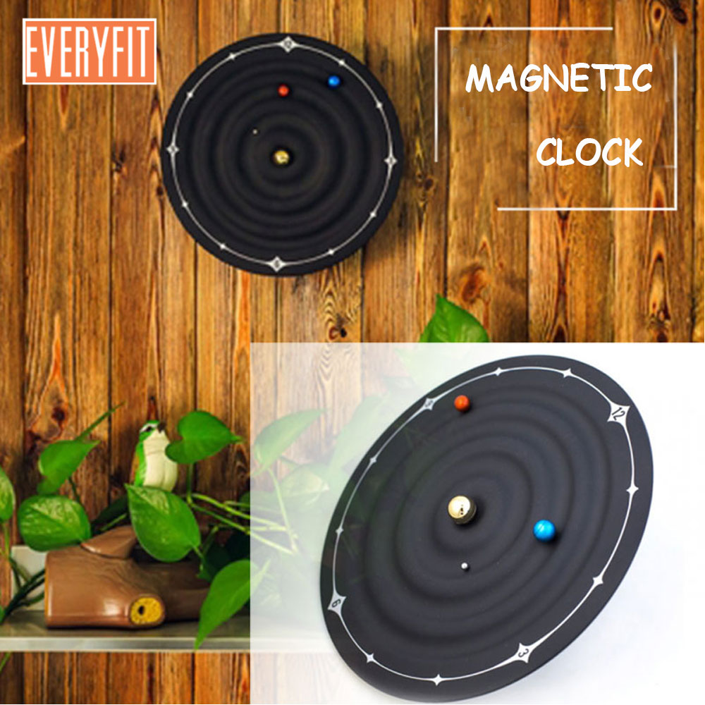Planet Galaxy magnetic clock, Home office storage Decoration, creative home decor table clock,Wall Mounted or Desktop Home DecorPlanet Galaxy magnetic clock, Home office storage Decoration, creative home decor table clock,Wall Mounted or Desktop Home Decor