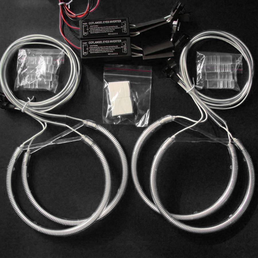 4x 131mm Car Angel Eyes Halo Rings Xenon Headlights CCFL White for BMW E36 E38 E39 E46 New Styling