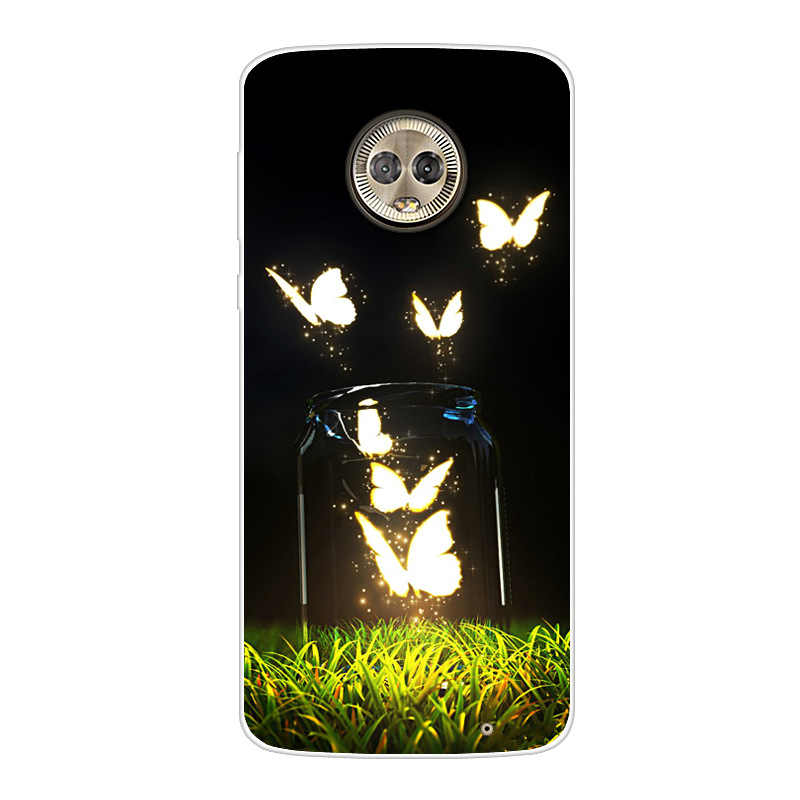 สำหรับ Moto G6 G6Plus G6Play กรณีโทรศัพท์ซิลิโคนพิมพ์แฟชั่นสำหรับ Motorola Moto G6/G6 PLUS/G6 Play ครอบคลุม