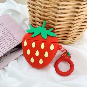 Image 5 - Case For AirPods Cute Cartoon Earphone Cases For Apple Airpods2 Accessories Protect Cover With Finger Ring Strap unique Fruit 3D