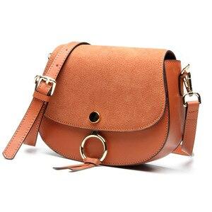 Image 3 - Mini bolso de diseñador de marca para mujer, bandoleras de piel auténtica de alta calidad, informal, pequeño, Color marrón y azul, Primavera, 2017