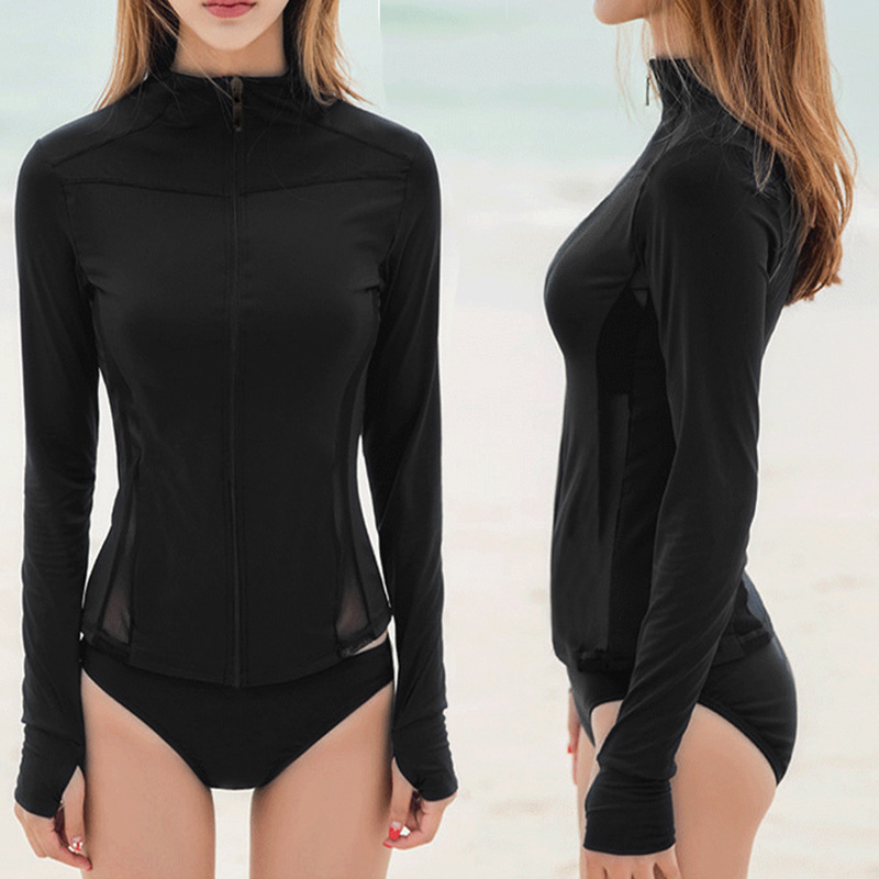 Swimwear Lady Korean Swimsuit Woman Surfing Clothes Suit For Swimming Swimsuits Girls Rush Guard Women Three Piece Long Sleeve