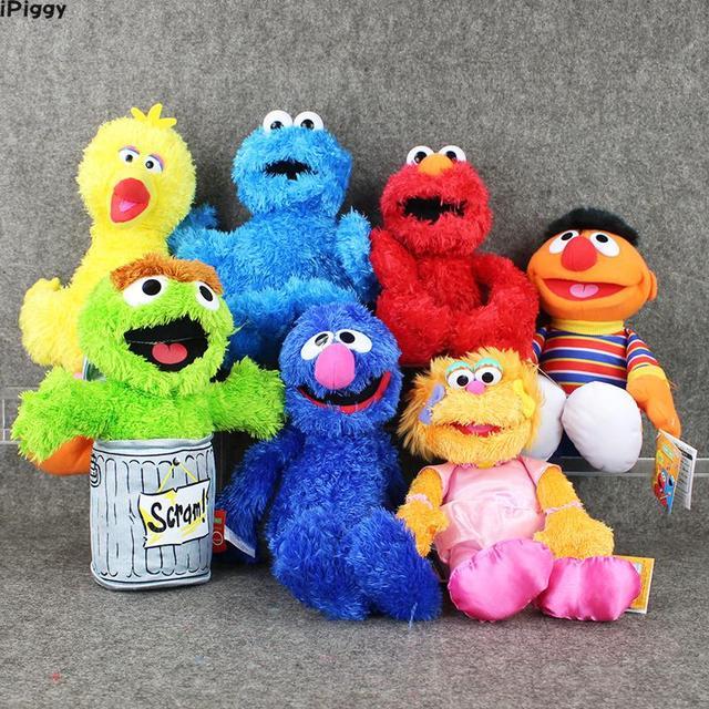 d9c933e57e49ee Sesame Street Elmo/BIG BIRD /COOKIE MONSTER /ERNIE/OSCAR THE GROUCH/ZOE/GROVER  Stuffed Plush Toy Puppet Kids Birthday Gift