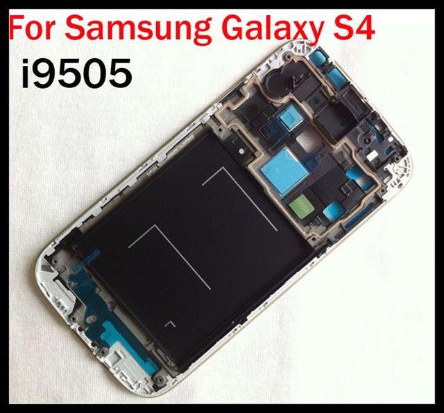 carcasa marco frontal plata samsung galaxy s4 i9505