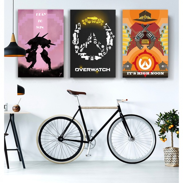 NUOMEGE Overwatchs Game Artwork Silk Canvas Art Poster Paintings Print Wall Pictures For Living Room Home Decoration Unframe 1