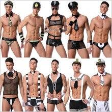 ee389022d Homens Trajes Enfermeira Sexy Hot Erotic Sexy Polícia Cosplay Traje Fantasia  Vestido de Polícia Dos Homens