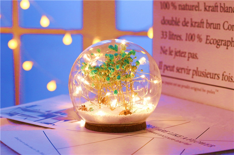 Creative LED Crystal Ball Design Table Lamp Room Decor Bedside Night Light For Girls Baby New Year Christmas Birthday Gift (16)