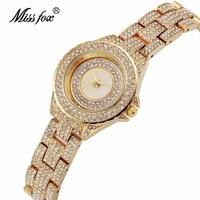 relogio Full Rhinestone Gold Watch Women Luxury Casual Bracelet Dress Wristwatch Ladies Quartz Clock Brand Jewelry Gift