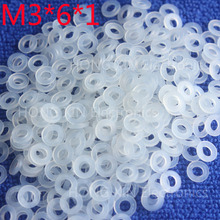 M3*6*1 White 100pcs Nylon Washer Plastic Flat Spacer Washer Thickness circular  round Gasket Ring High Quality circular m6 12 1 2 white 100pcs nylon washer plastic flat spacer washer thickness circular round gasket ring high quality circular