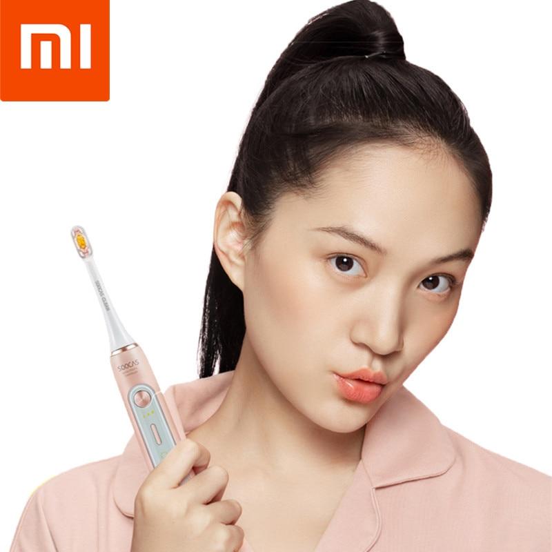 XIAOMI Smart blanchiment brosse à dents électrique ultrasons Vibration 12 Mode de brossage hygiène des dents buccales sans fil capteur de charge