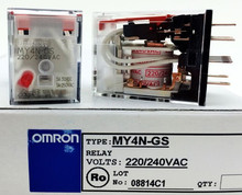 цена на MY4N-GS AC220V  3A OMRON  relay four open four closed  14 needle electronic component  solid state relays
