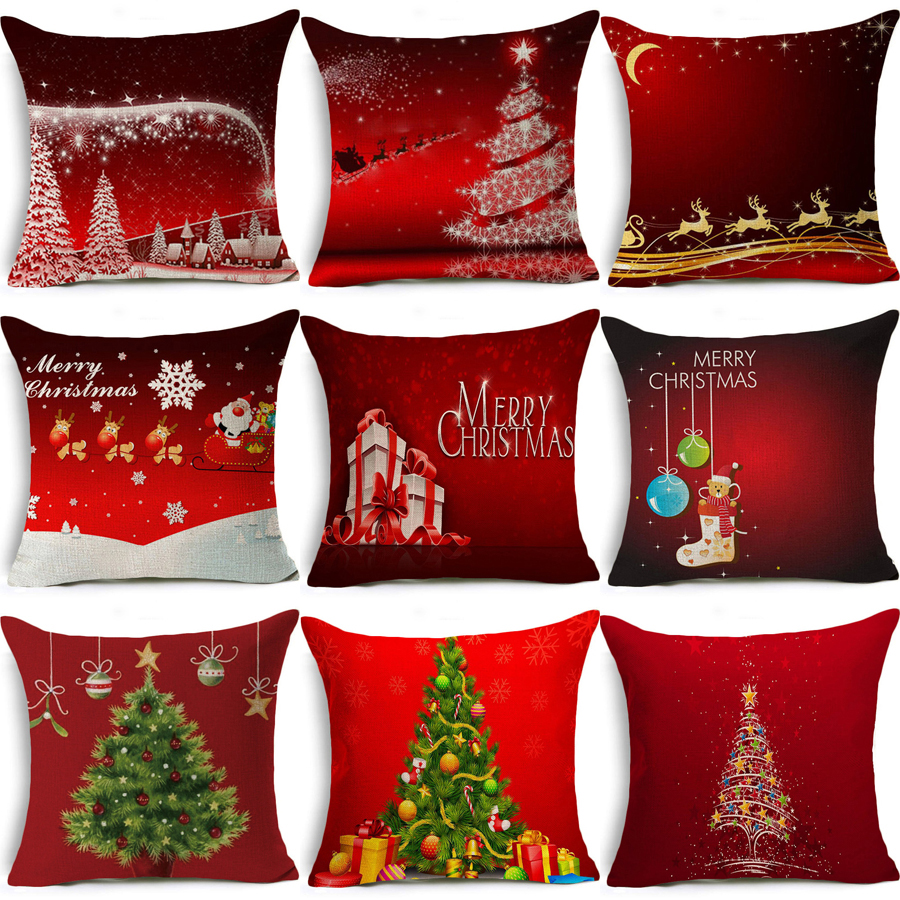 """4pcs Decorative Throw Pillow Covers Deer Print Cushion Couch Pillow Cover 18X18/"""""""