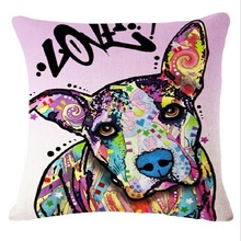 Cotton Linen Dog Cocker Spaniel For Sofa Throw Cushion Cover 3D Printing Pillow Custom Pillowcase Home Decoration 12 Pattems