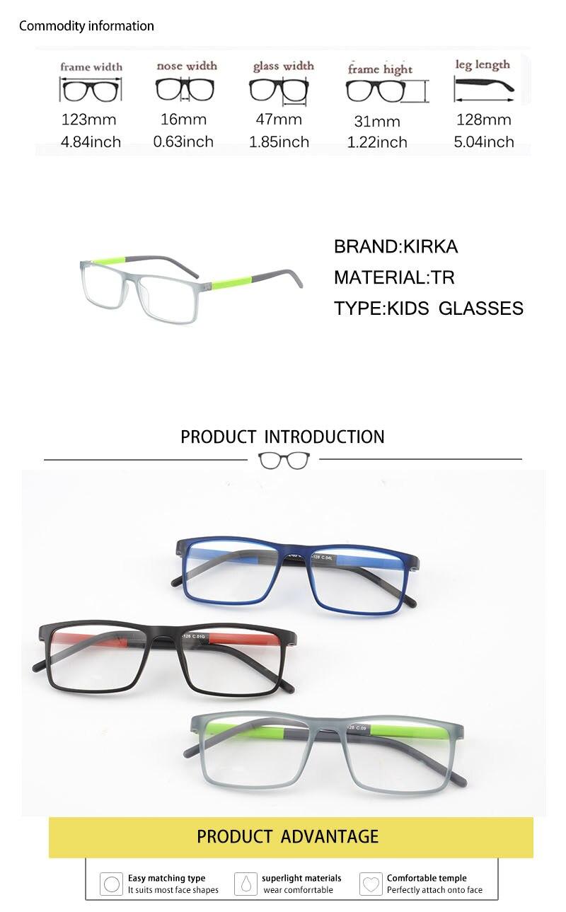 Kirka Kids Glasses TR Eyewear Frames Children Glasses Frames Kids Eyeglass Frames Flexible Soft Optical Glasses Children Frame