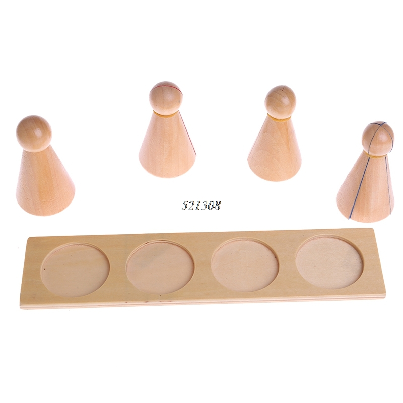 Montessori Material Wooden Score Doll Kid Educational Toy For Preschool Learning MAY17 35