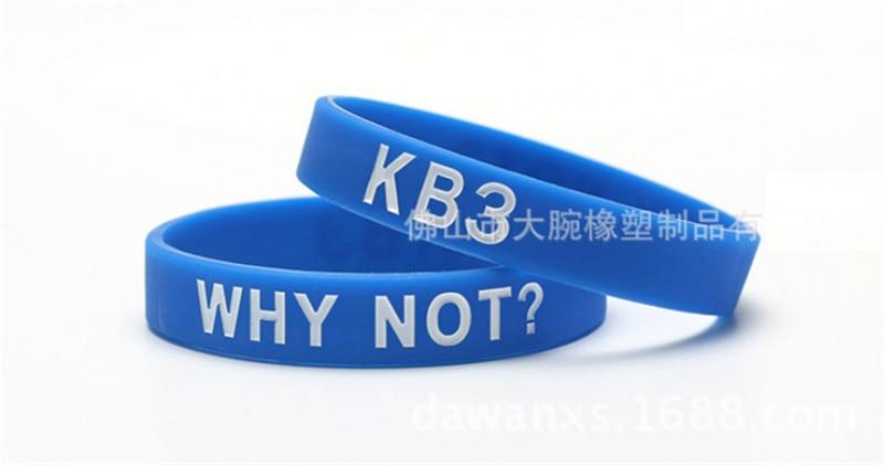 3pcs New fashion jewelry WHY NOT KB3 silicone power bracelet energy wristband basketball sports balance bangle