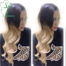 #1bT#613 Glueless Full Lace Ombre Wigs for Black Women/Two Tone Ombre Lace Front Wig Human Hair with Baby Hair Natural Hairline